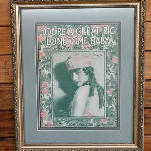 Your a great big lonesome baby framed art